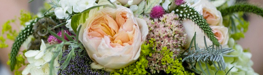 Bridal bouquets come in many colours, shapes and sizes.