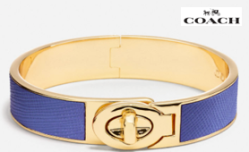 Coach Saffiano Leather Bangle